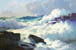 Breaking surf | Frederick Judd Waugh | Oil Painting