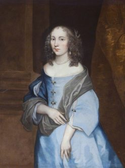 Portrait of a Young Lady in a Blue Dress | Gerard Soest | Oil Painting