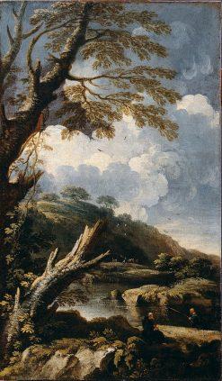 Monks Fishing | Salvator Rosa | Oil Painting