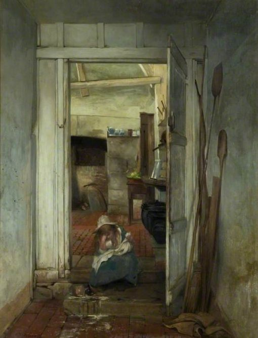 The Broken Pitcher   Walter Dendy Sadler   Oil Painting