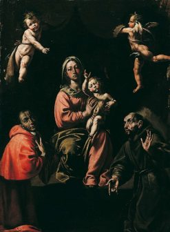 The Virgin and Child with Carlo Borromeo and Francis of Assisi | Tanzio da Varallo | Oil Painting