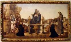The Virgin and Child Enthroned | Benedetto Rusconi | Oil Painting