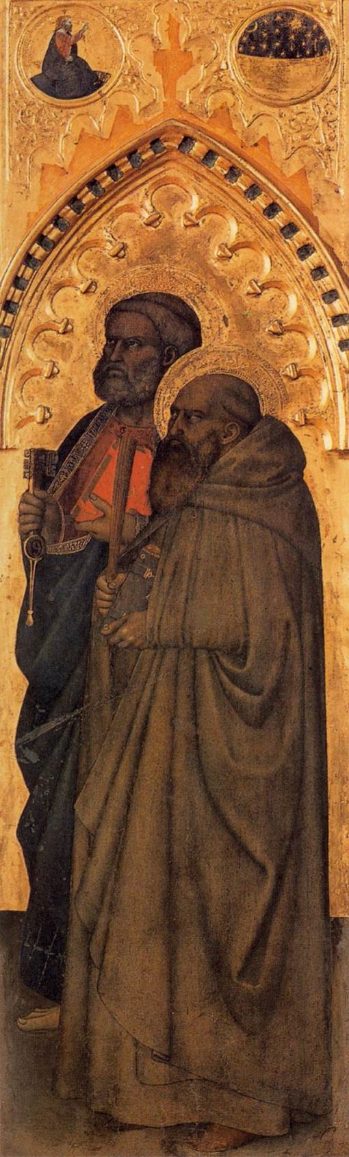 Saints Peter and Benedict of Nursia | Giovanni da Milano | Oil Painting