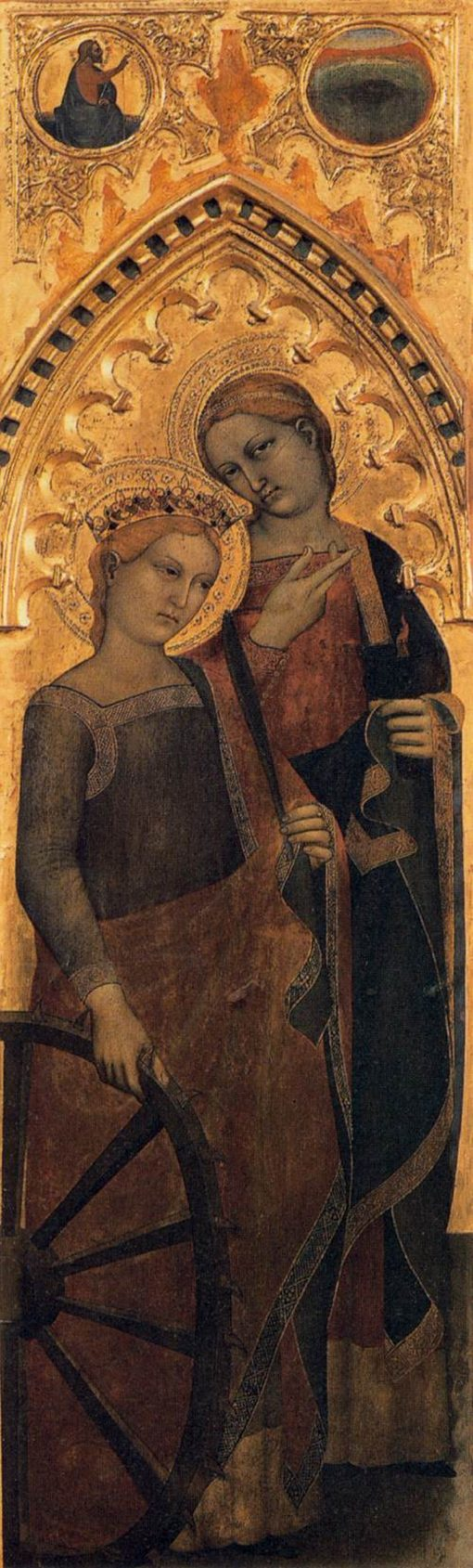 Saints Catherine of Alexandria and Lucy | Giovanni da Milano | Oil Painting