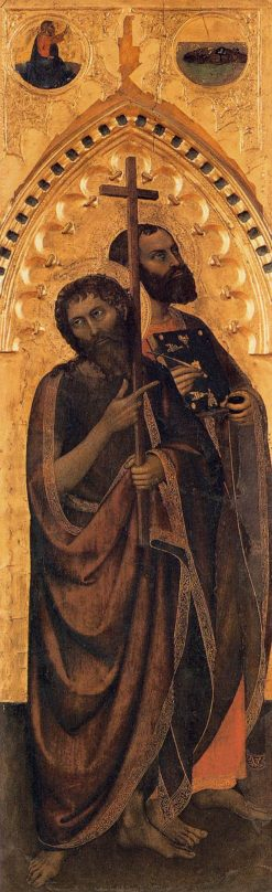 Saints John the Baptist and Luke the Evangelist | Giovanni da Milano | Oil Painting