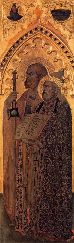 Saints James the Greater and Gregory | Giovanni da Milano | Oil Painting