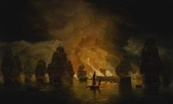 The Bombardment of Algiers | Thomas Luny | Oil Painting