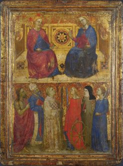 Christ and Virgin with Saints | Giovanni da Milano | Oil Painting