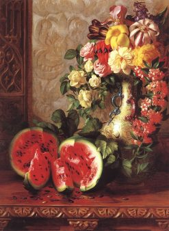 Still Life with Watermelon | George Henry Hall | Oil Painting