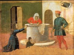 Polyptych of St Anthony - St Elizabeth Saves a Boy | Piero della Francesca | Oil Painting