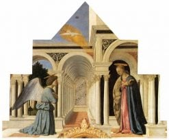 Polyptych of St Anthony - The Annunciation | Piero della Francesca | Oil Painting