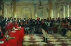 Alexander Pushkin at the Lyceum   Ilia Efimovich Repin   Oil Painting
