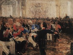 Alexander Pushkin at the Lyceum (study) | Ilia Efimovich Repin | Oil Painting