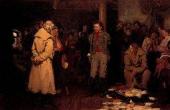 The Arrest of a Propagandist | Ilia Efimovich Repin | Oil Painting