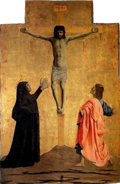 Polyptych of Misericordia -  Crucifixion | Piero della Francesca | Oil Painting