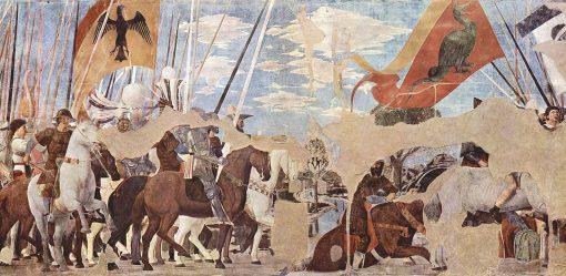 Battle between Constantine and Maxentius   Piero della Francesca   Oil Painting