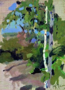 Birch Trees on a Sunny Day | Ilia Efimovich Repin | Oil Painting