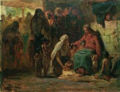 Christ Blessing Children | Ilia Efimovich Repin | Oil Painting
