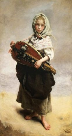 Girl Minstrel | Gustave Jean Jacquet | Oil Painting