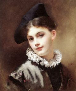 A coquettish smile | Gustave Jean Jacquet | Oil Painting