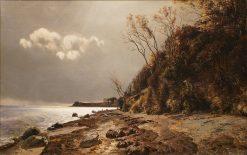 The Shore at Moesgard | Janus La Cour | Oil Painting