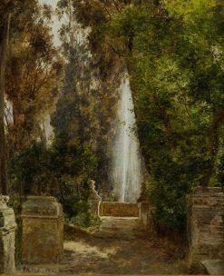 A fontain at the Villa d`Este in Tivoli
