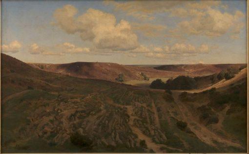 Landscape at Nejsum in Vendsyssel   Janus La Cour   Oil Painting