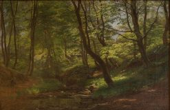 May Day in Beech Forest | Janus La Cour | Oil Painting