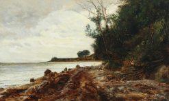 The Shore in Helgenæs | Janus La Cour | Oil Painting