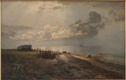 The Beach | Janus La Cour | Oil Painting