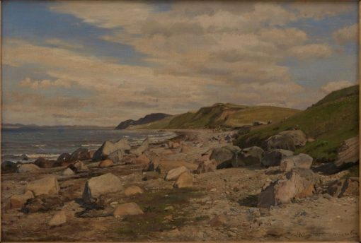 Beach at Helgenæs | Janus La Cour | Oil Painting