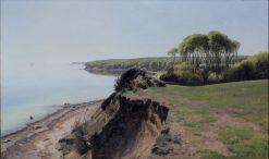 The Trees Serving as Navigation Mark at Moesgard | Janus La Cour | Oil Painting
