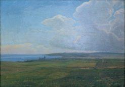 View of Aarhus from Vorregards Mark | Janus La Cour | Oil Painting