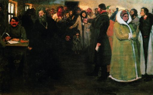 At the Local Adminsitration | Ilia Efimovich Repin | Oil Painting