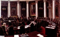 The State Council (study) | Ilia Efimovich Repin | Oil Painting