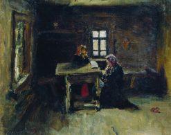 In the Cottage   Ilia Efimovich Repin   Oil Painting