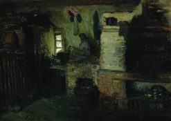 In the Cottage | Ilia Efimovich Repin | Oil Painting