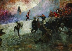 The Siege of Moscow in 1812 | Ilia Efimovich Repin | Oil Painting