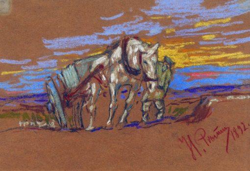 A Horse | Ilia Efimovich Repin | Oil Painting