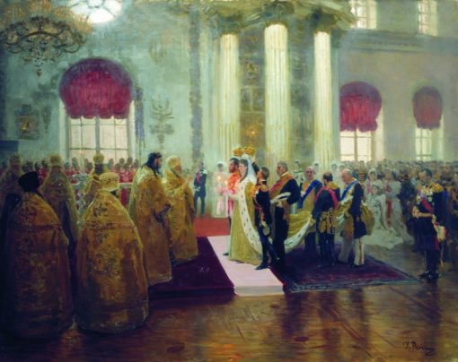 The Wedding of Nicholas II and Princess Alexandra | Ilia Efimovich Repin | Oil Painting
