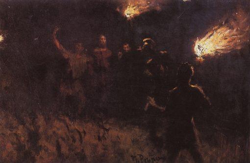 The Arrest of Christ   Ilia Efimovich Repin   Oil Painting