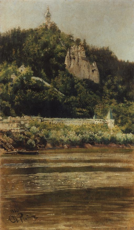 A View of the Svyatogorsk Assumption Monastery | Ilia Efimovich Repin | Oil Painting