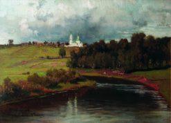 View of Varvarino Village | Ilia Efimovich Repin | Oil Painting