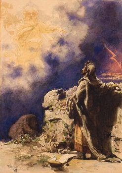 A Vision of Prophets Ezekiel | Ilia Efimovich Repin | Oil Painting