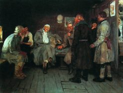 Return from the War | Ilia Efimovich Repin | Oil Painting