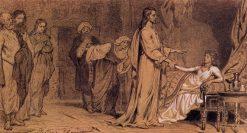 Raising of Jairus Daughter (study) | Ilia Efimovich Repin | Oil Painting
