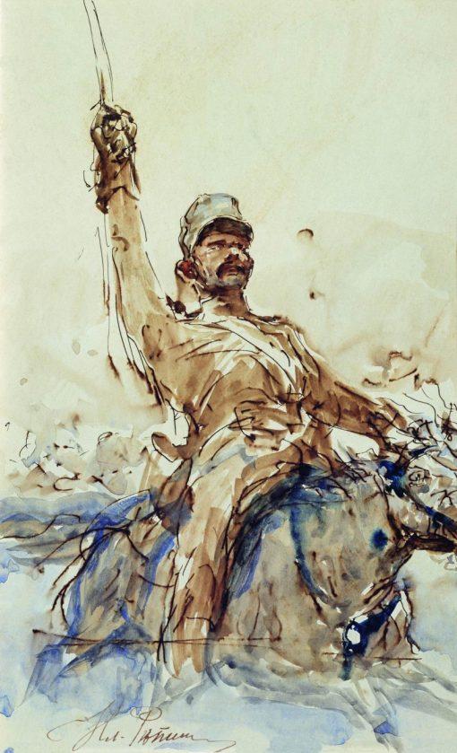 The Rider | Ilia Efimovich Repin | Oil Painting