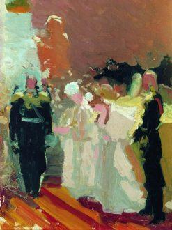 The Entry | Ilia Efimovich Repin | Oil Painting