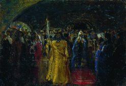 The Entry pf Patriarch Hermogenes | Ilia Efimovich Repin | Oil Painting
