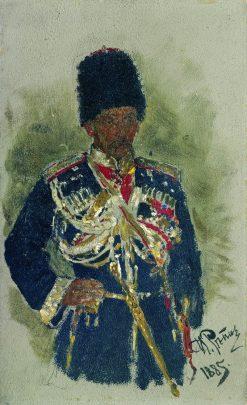 General P.A. Cherevin (sketch) | Ilia Efimovich Repin | Oil Painting